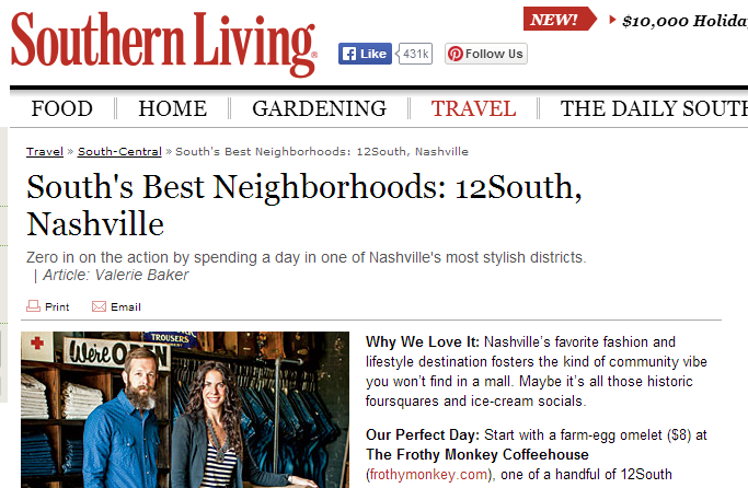 12 South on Southern Living
